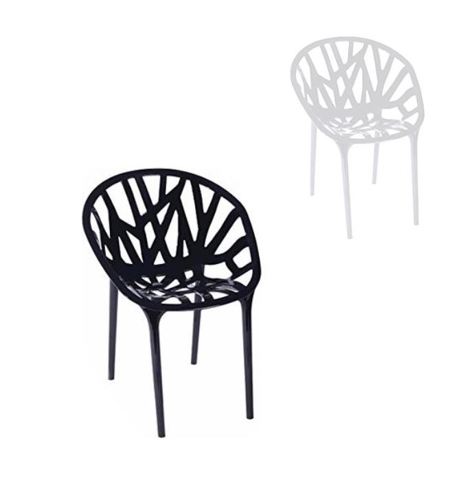 twig chairs pair of
