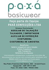 Empresa do Ramo Têxtil Contrata: