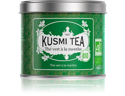 Thé vert menthe Bio, Kusmi Tea.