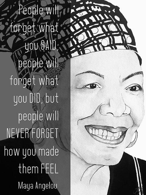 Maya Angelou: Print A5