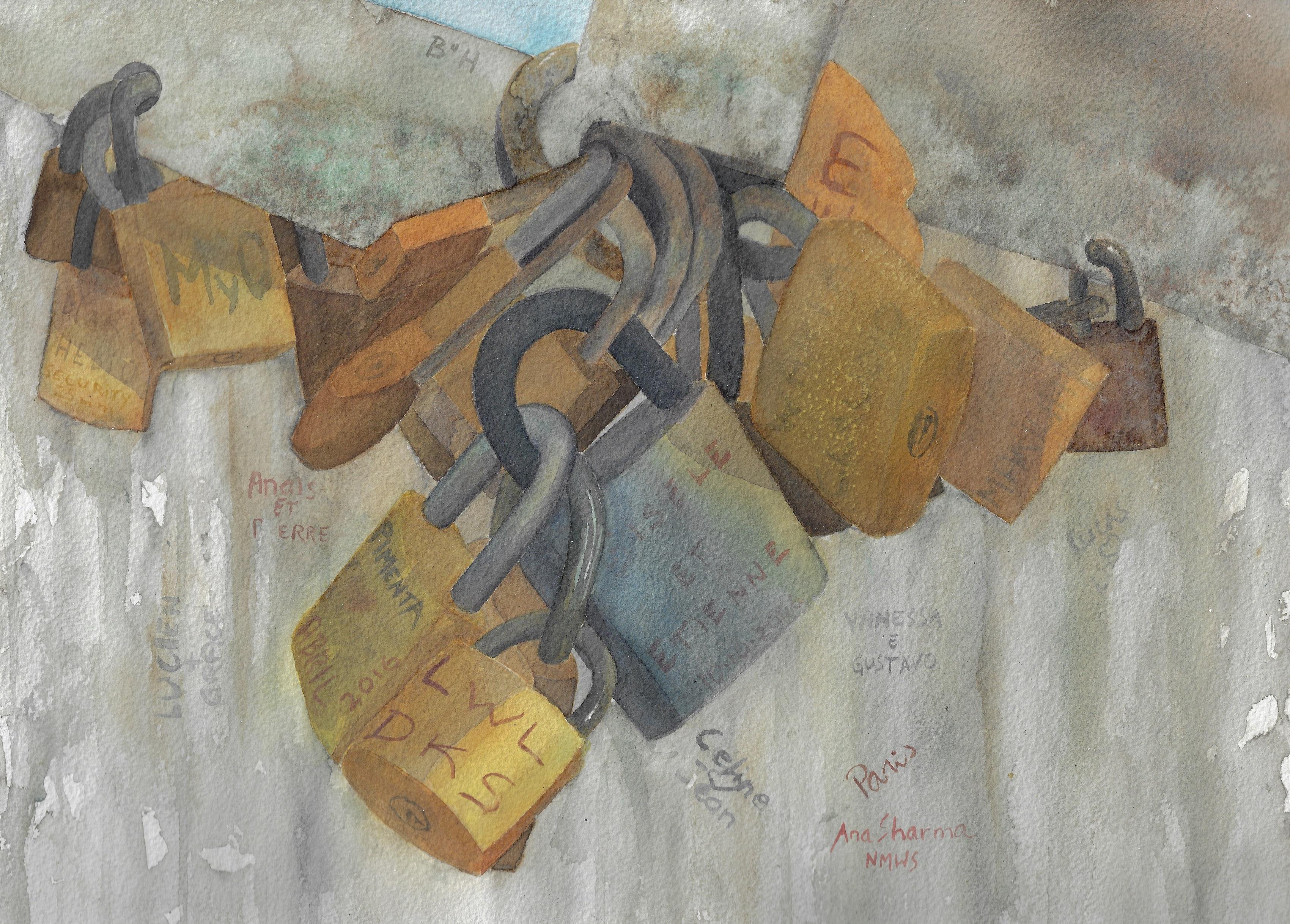 Love-locks Under The Brigde