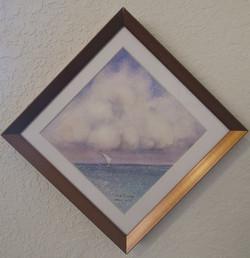 Diagonal Miniature - Sea & Skies of Galveston I
