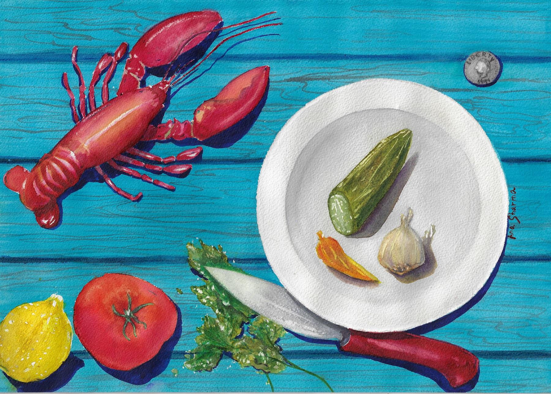 SOLD - Little lobster for dinner