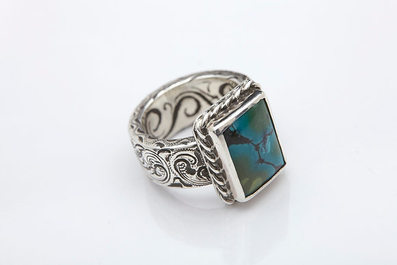 Roped Rectangle Turquoise