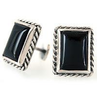Sterling Silver Onyx Cufflinks