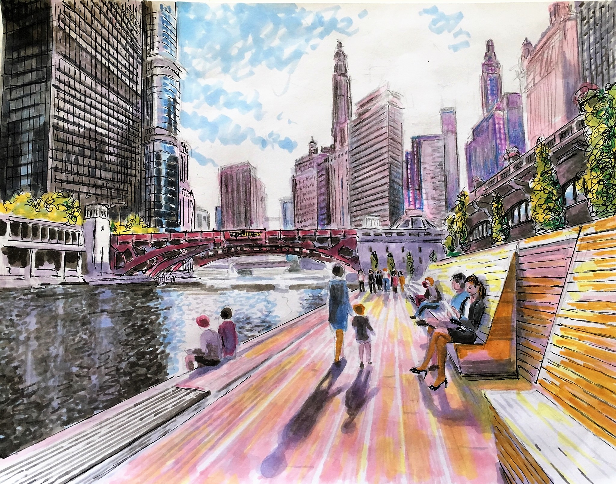 Riverwalk, Chicago
