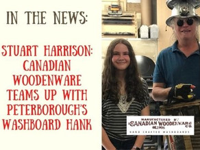 Stuart Harrison: Canadian Woodenware teams up with Peterborough's Washboard Hank