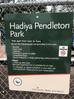 Nate Pendleton speaks on the opening of Hadiya Pendleton Park.