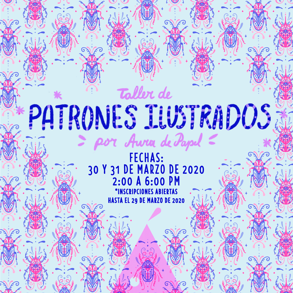 Taller de PATRONES ILUSTRADOS por Aura d