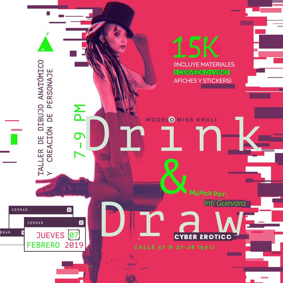 DRINK & DRAW: CIBERÓTICO