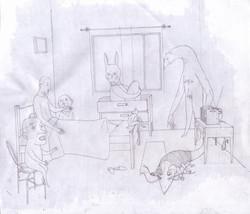 Mala noche (1 Boceto)