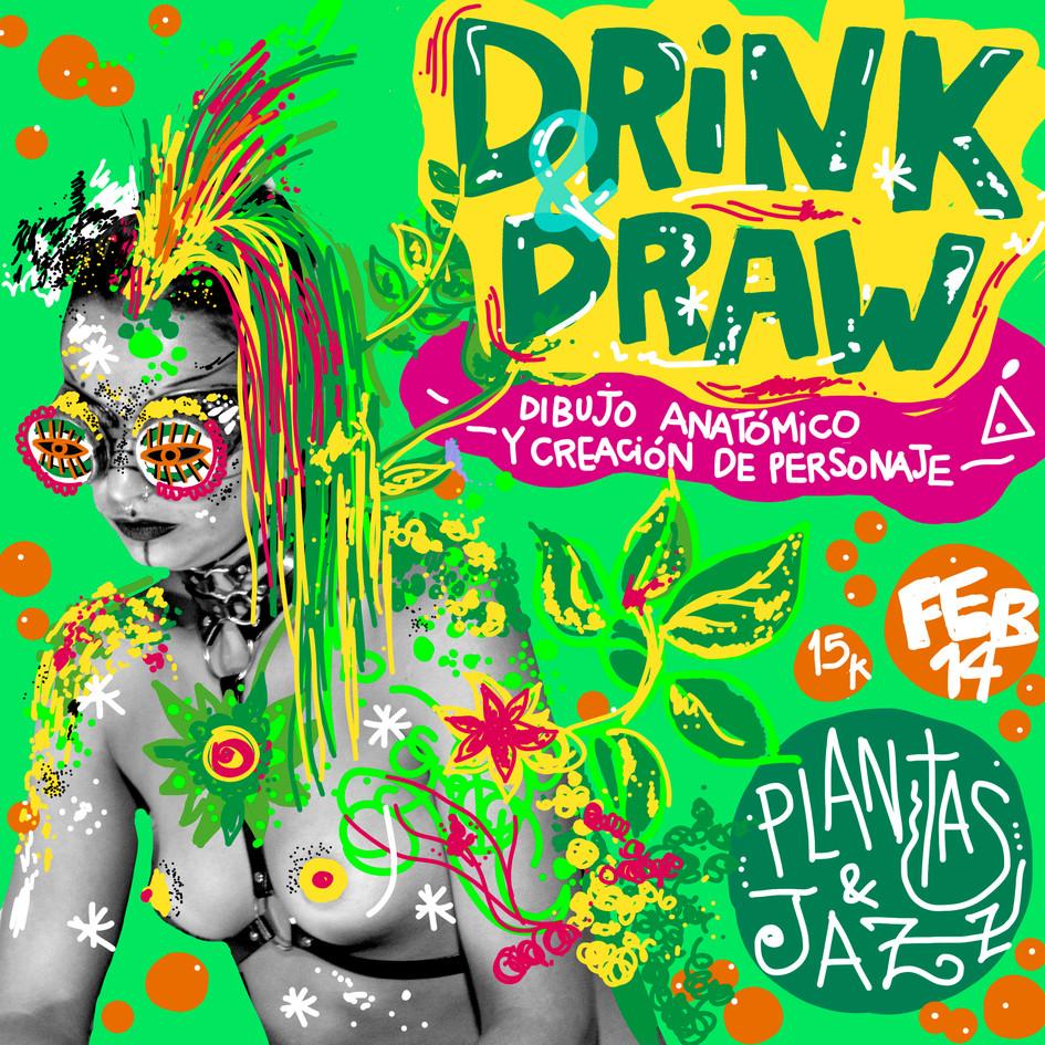 DRINK & DRAW 2: Plantas y Jazz