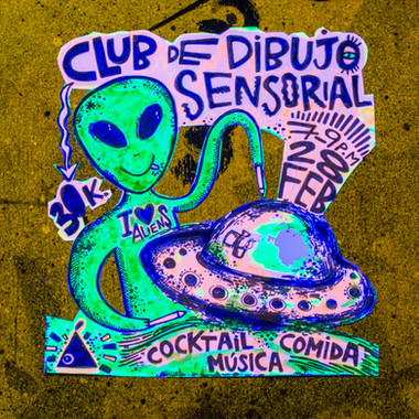 CLUB DE DIBUJO SENSORIAL: ALIENS