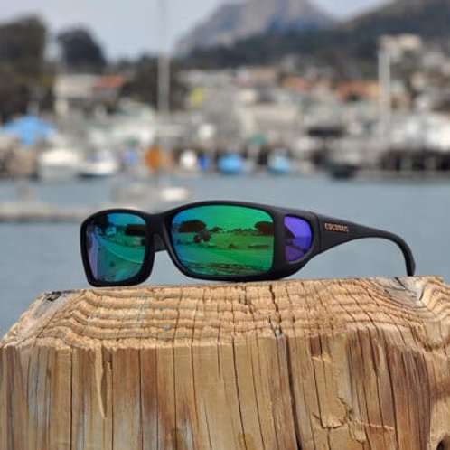 Cocoons Wide Line (ML) Black Polarized Green Mirror