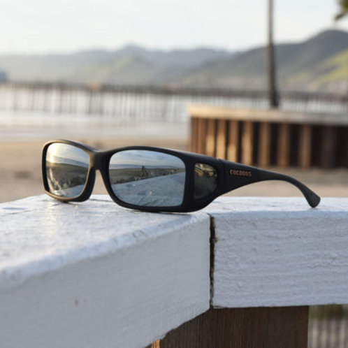 Cocoons Wide Line (ML) Black Polarized Silver Mirror