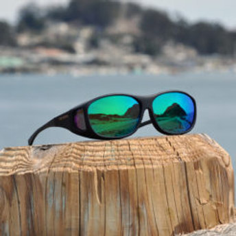 Cocoons Slim Line (M) Black Polarized Green Mirror