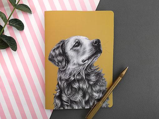 Beth Goodwin illustrator - Notebook - A5 - Golden Retriever - 02.jpg