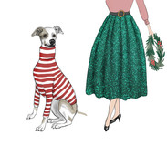 Whippet and Lady
