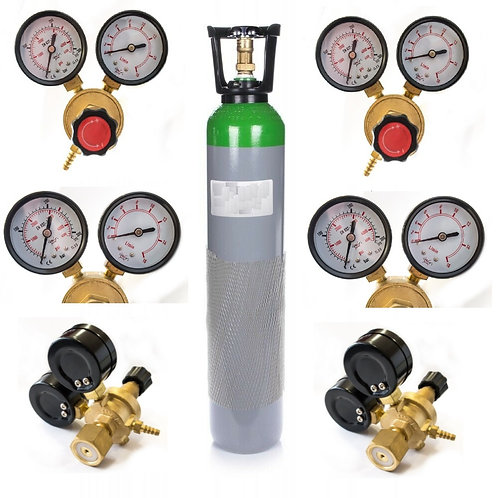 Argon/CO2 Gas Full Cylinder with GasRegulator