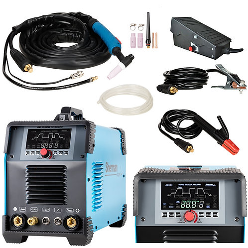 Sherman DIGITIG 200 AC/DC Multipro Welder Inverter + Foot Pedal controller