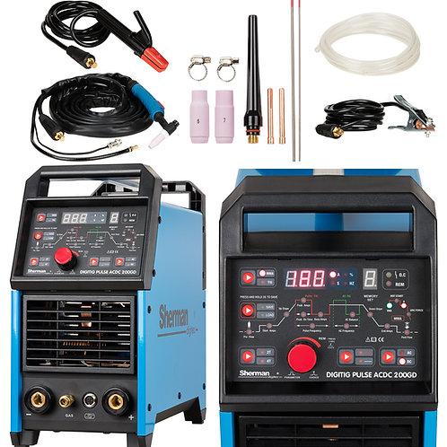 Sherman DIGITIG 200GD AC/DC Pulse Welder Inverter