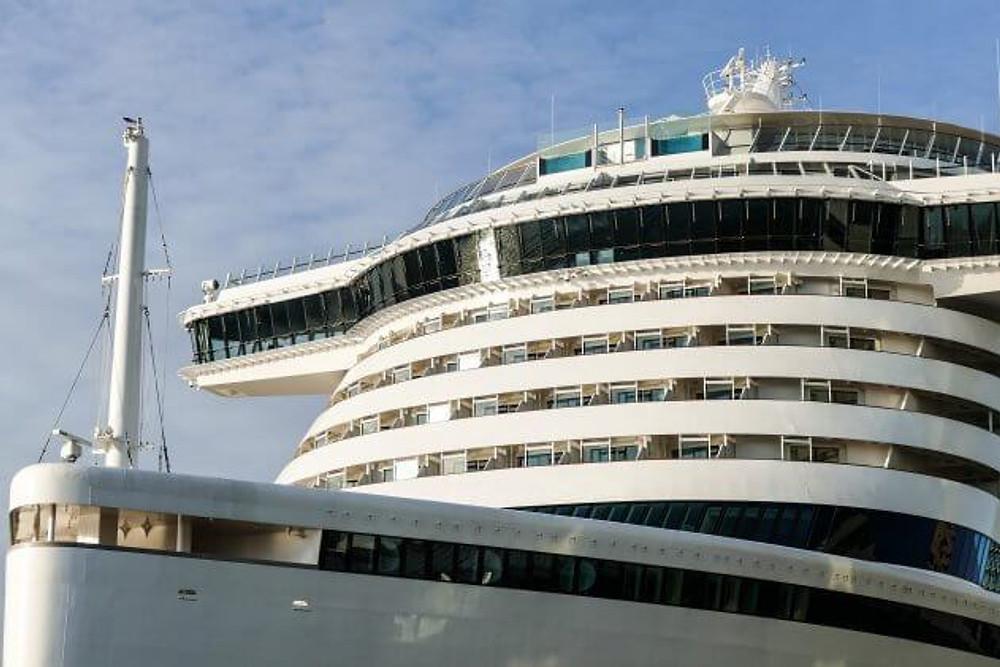 cruise ship in a hurricane