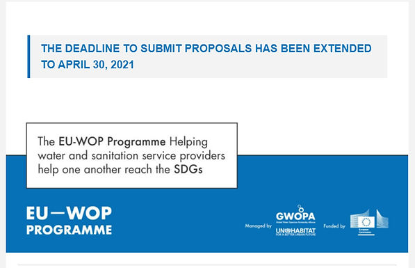 THE DEADLINE TO SUBMIT PROPOSALS HAS BEEN EXTENDED TO APRIL 30, 2021