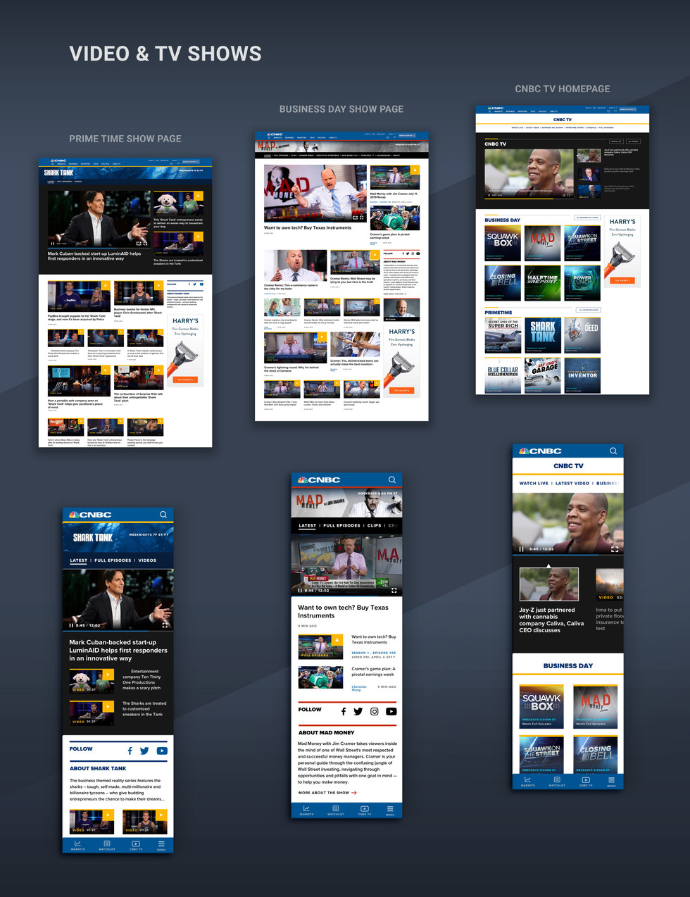 CNBC Redesign Video and TV
