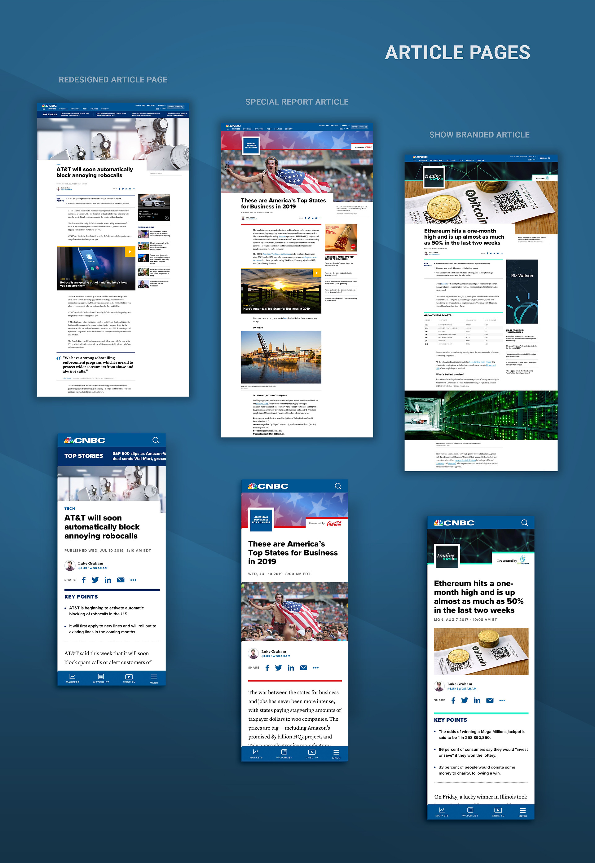 CNBC Redesign Articles