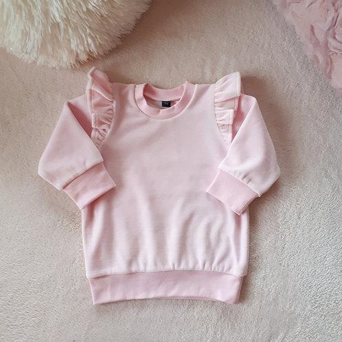 Veliūrinis džemperis VELOUR baby pink