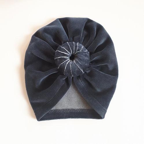 Vienguba kepurė VELOUR TURBAN graphite