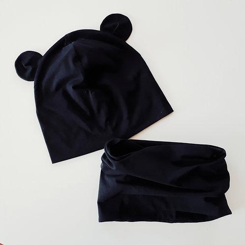 Dviguba kepurė ir mova MOUSE black
