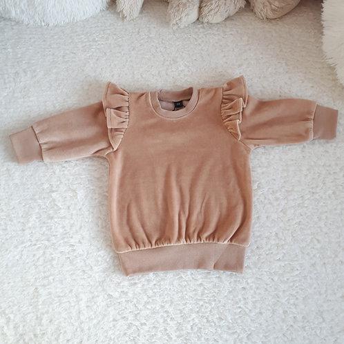 Veliūrinis džemperis VELOUR sand