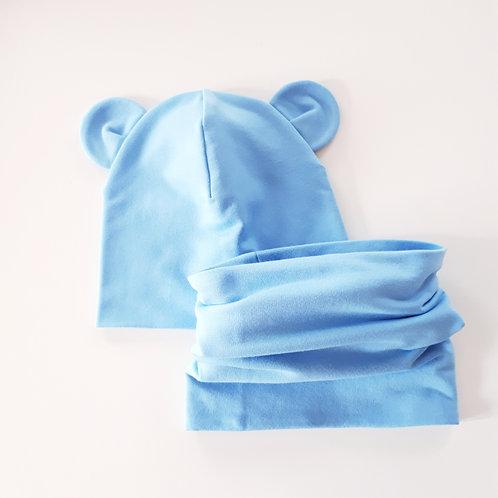 Dviguba kepurė ir mova MOUSE sky blue