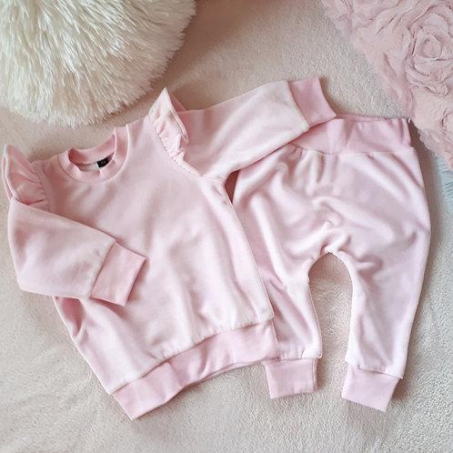 Veliūrinis kostiumėlis su sparneliais VELOUR baby pink