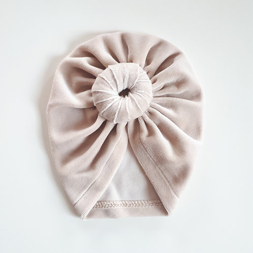 Vienguba kepurė VELOUR TURBAN light sand