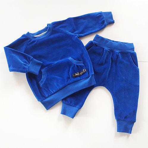 Veliūrinis kostiumėlis VELOUR blue