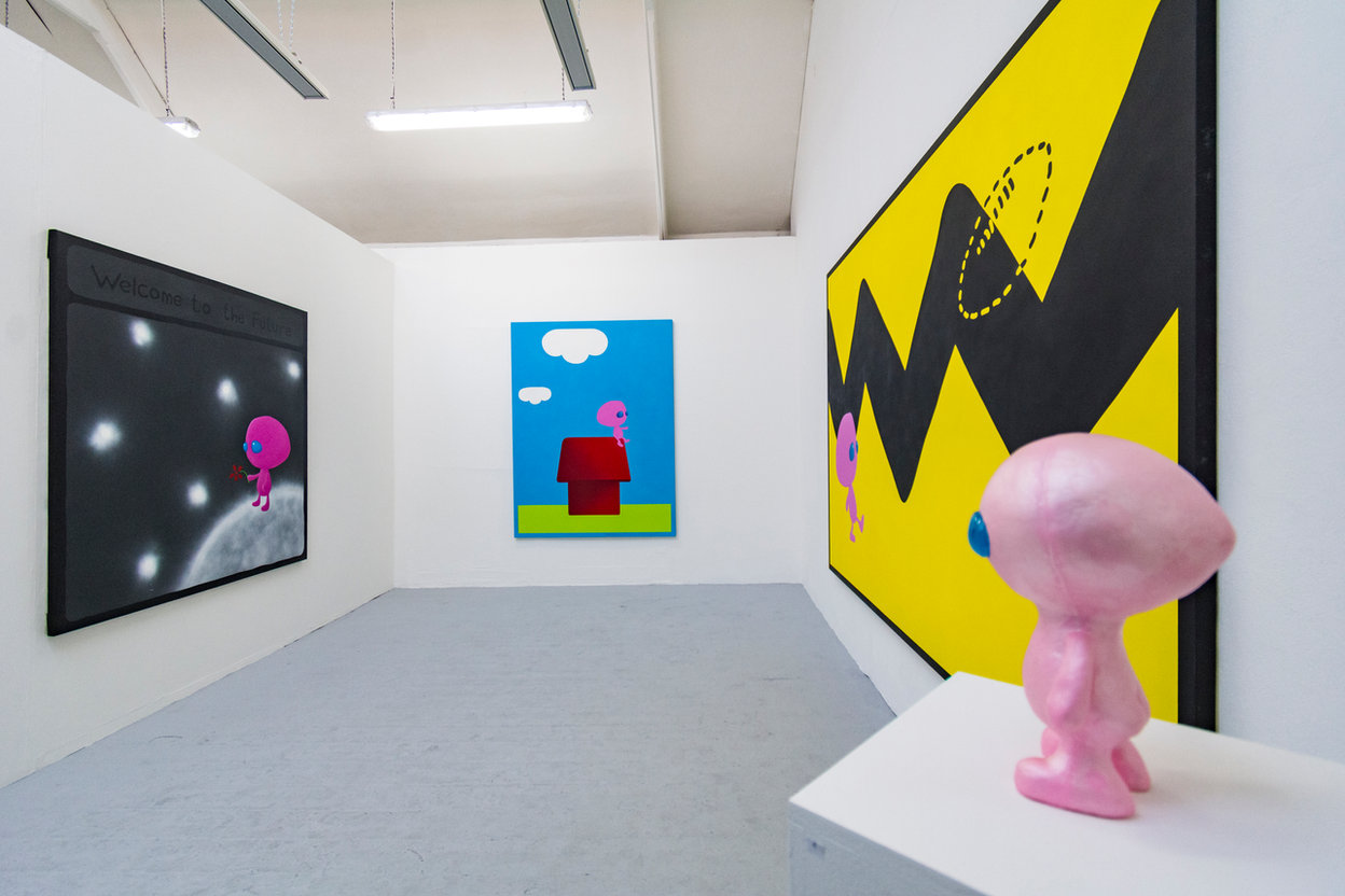 Degree Show ('Welcome To The Future', 'Better Days(?) 1', 'Can I Kick It' and 'I Love You')
