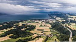 Orage sur le lac de Neuchâtel