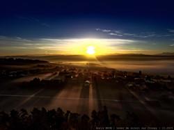 Lever de soleil sur Cronay.
