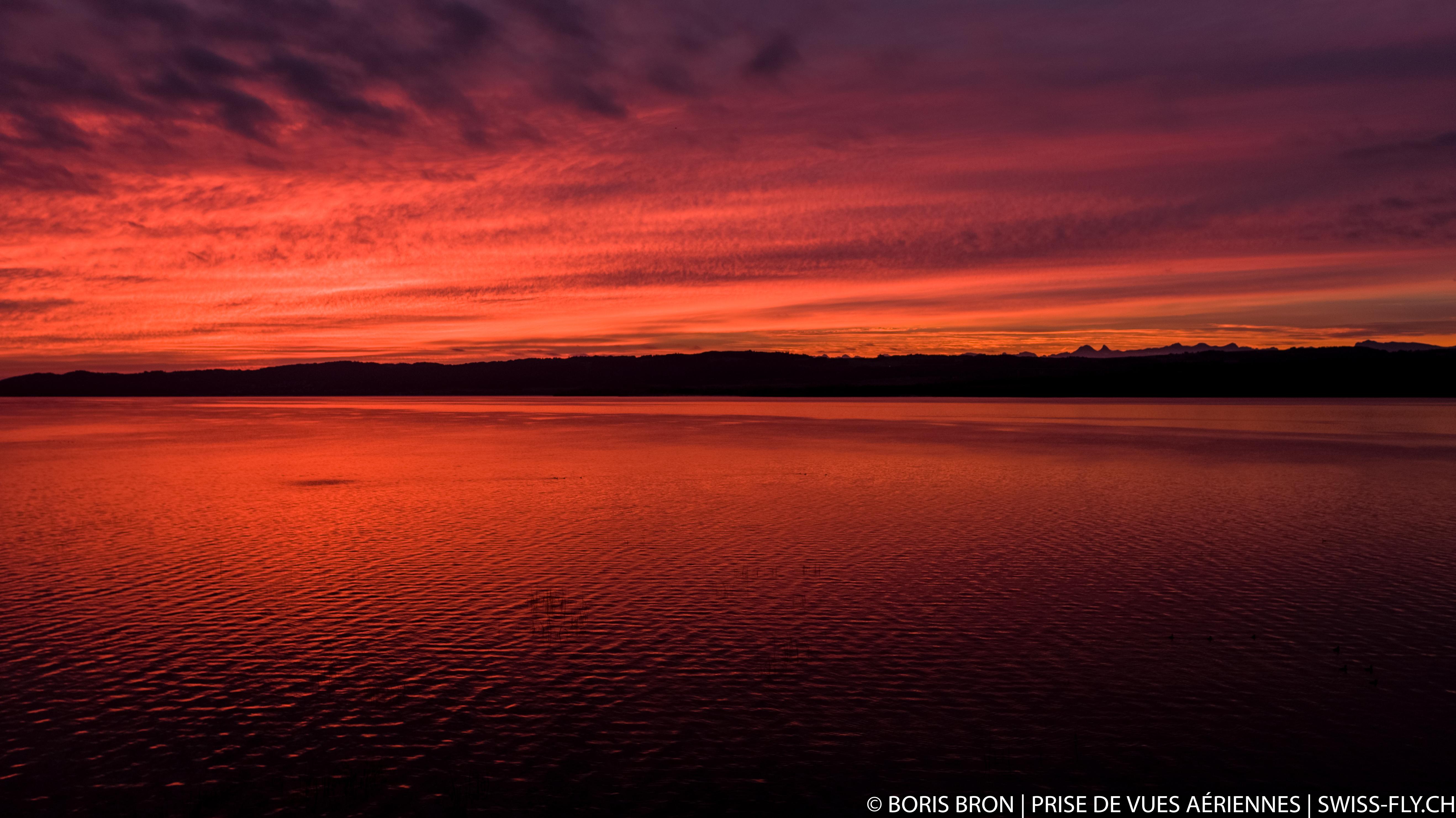 Lever de soleil - Lac de Neuchâtel