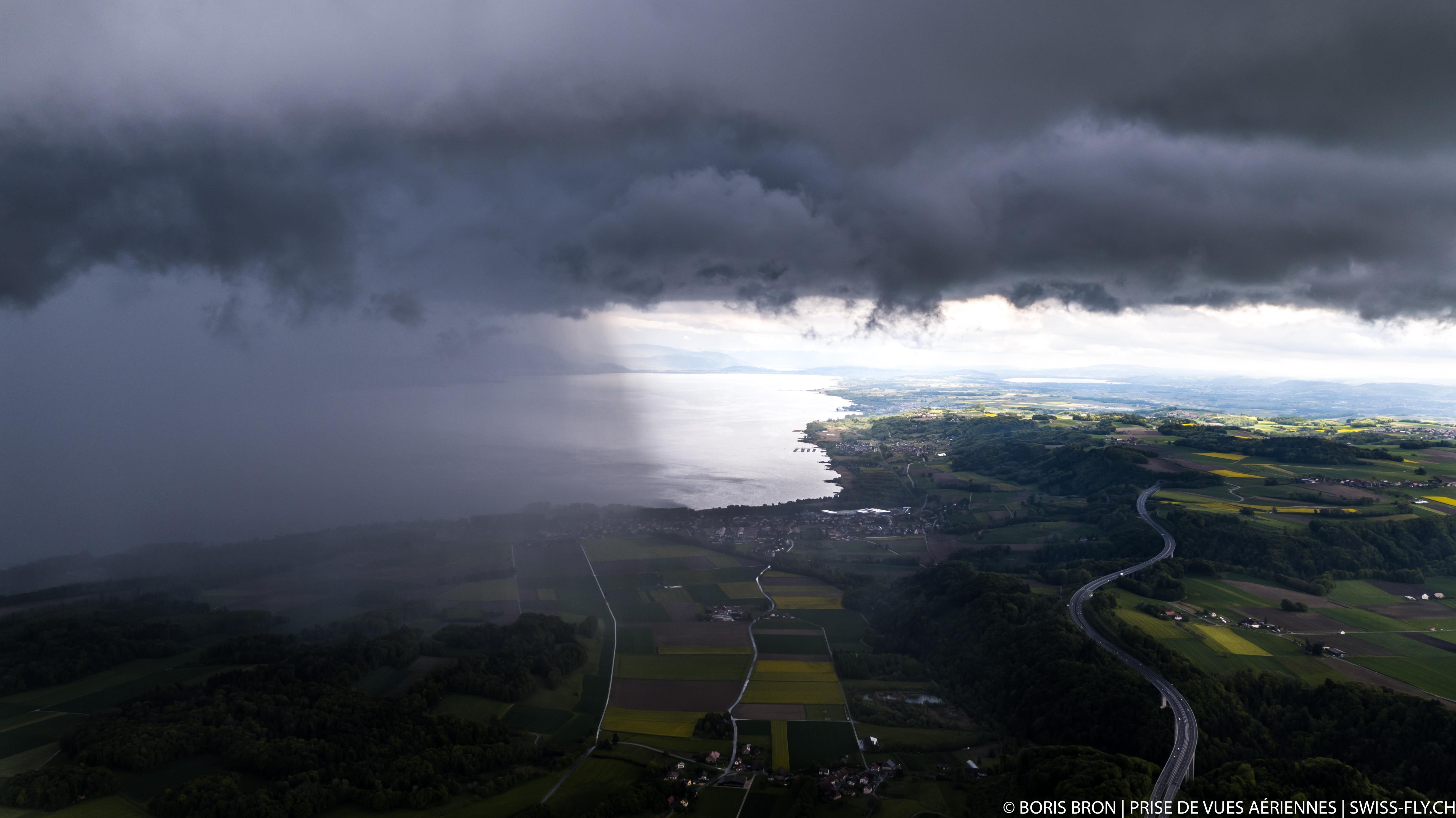 Orage sur Yvonand - Lac de Neuchâtel