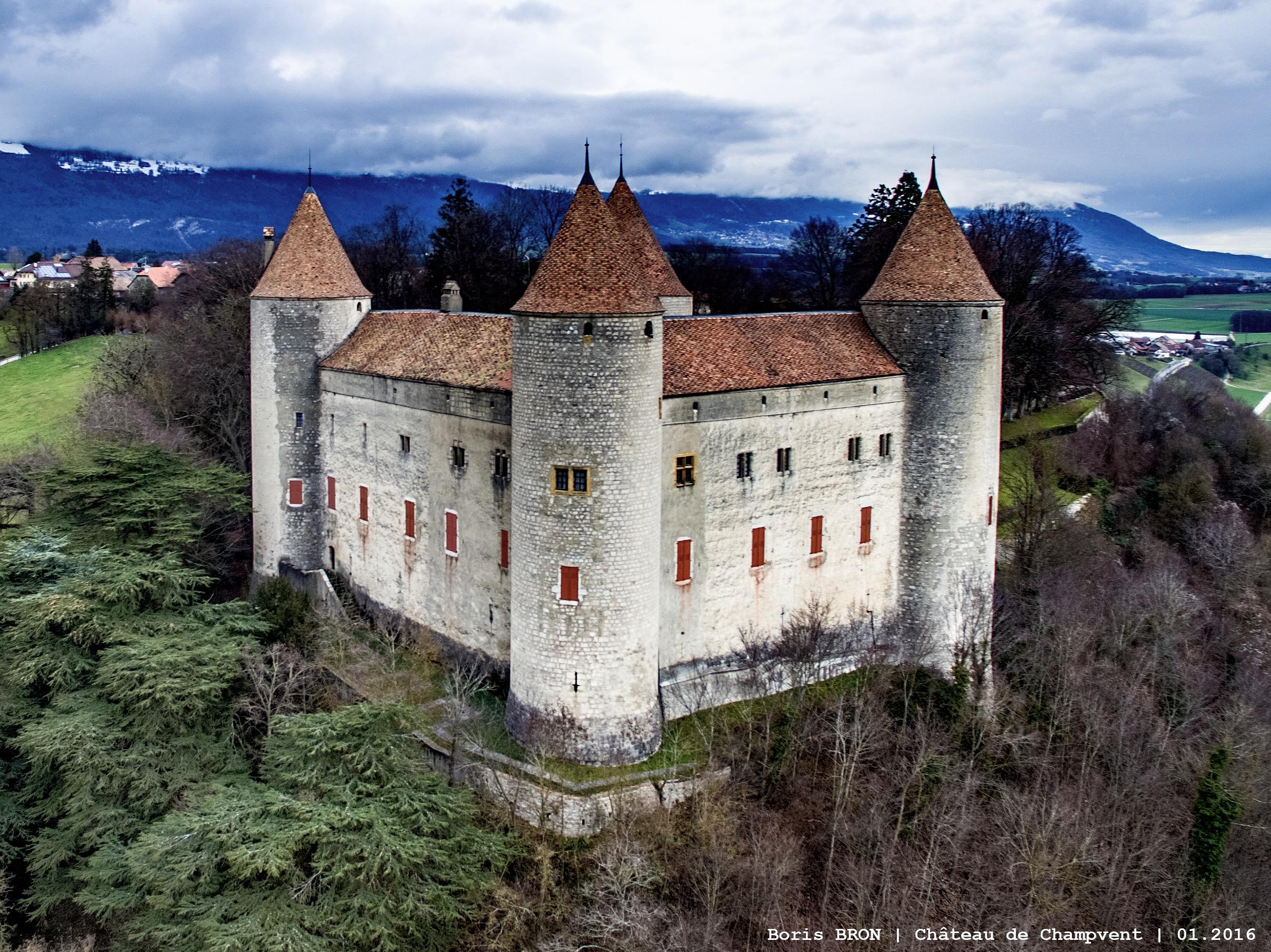 Le château de Champvent.