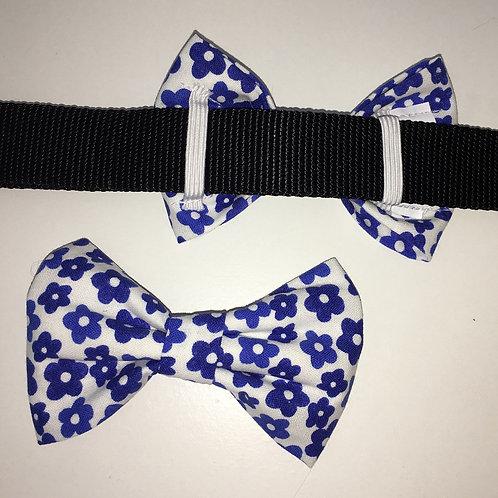 Blue Flowers Bow Tie