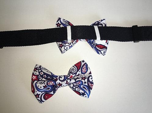 Patriotic Paisley Bow Tie