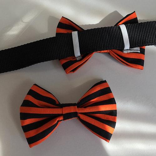Halloween Stripe Bow Tie