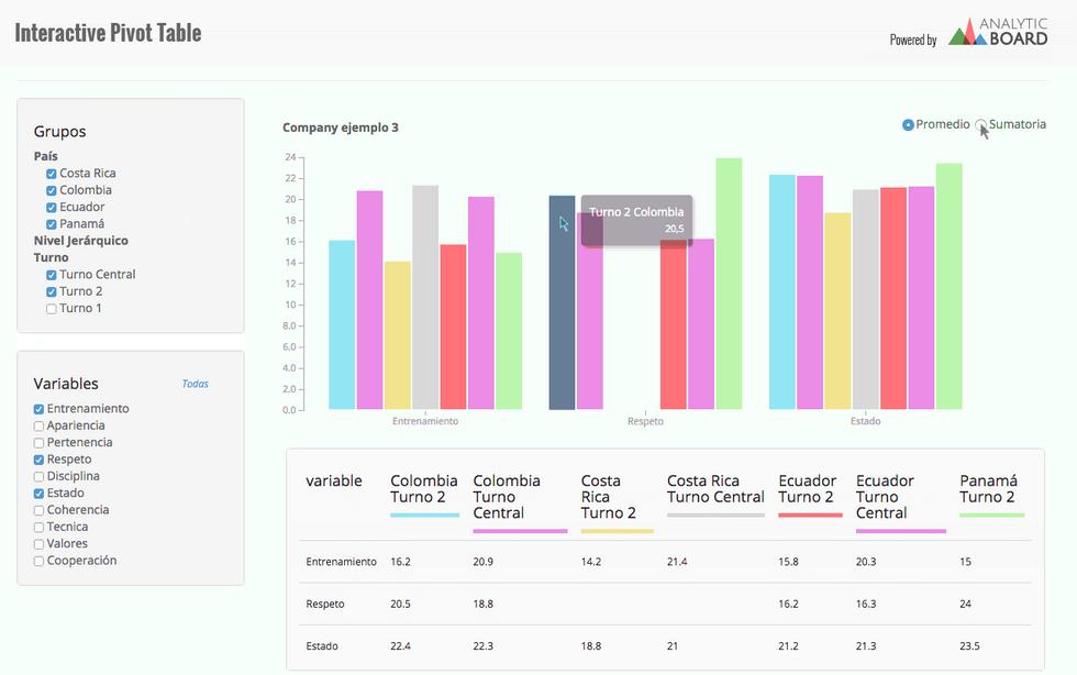 Interactive Pivot Table