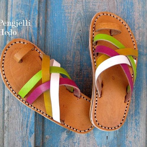 Sandales nu pieds pour fillette en cuir taille 25