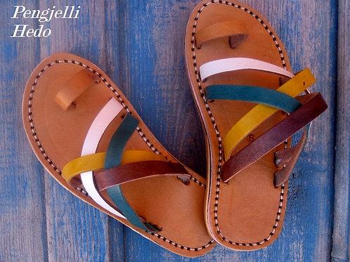 Sandales nu pieds pour fillette en cuir taille 26