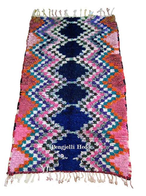 Tapis Boucherouite années 70 190 x 110